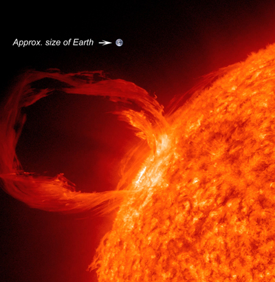 Sun CME with Earth Size